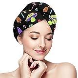 LisaArticles Setas de Colores Sombreros de Pelo seco con Estilo para Viajes de Gimnasio en la Piscina,28x71cm