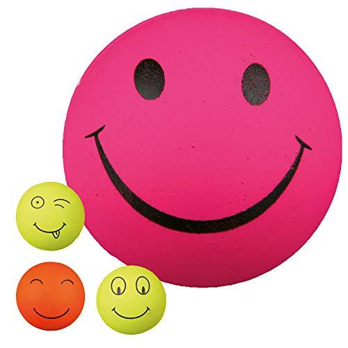 Trixie 3438 4 Smiley Bälle, Moosgummi, ø 6 cm