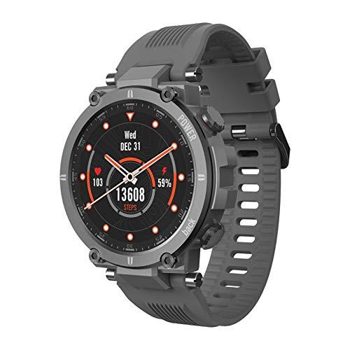 YNLRY Reloj inteligente para hombre 1.3 al aire libre con brújula barómetro reloj inteligente con 20 modos deportivos reloj inteligente para hombres y mujeres (color: gris)