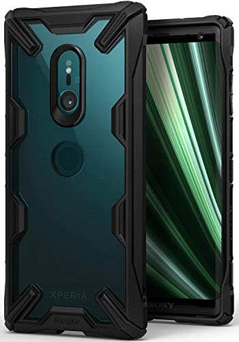 Ringke Fusion-X für Sony Xperia XZ3 Hülle [Schwarz] Transparent PC Hart Rückseite Kratzfest Black TPU Silikon Rahmen Hülle Schutzhülle Passform Stoßfest Modisch Cover für Xperia XZ 3