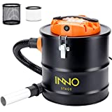 5 Gallon Ash Vacuum Cleaner with Blow fonction, 1200W Power Ash Collector, Suitable for Fireplaces, Log Burners, Grills, BBQ's, Fire Pits,Wood Stoves and Pellet Stoves