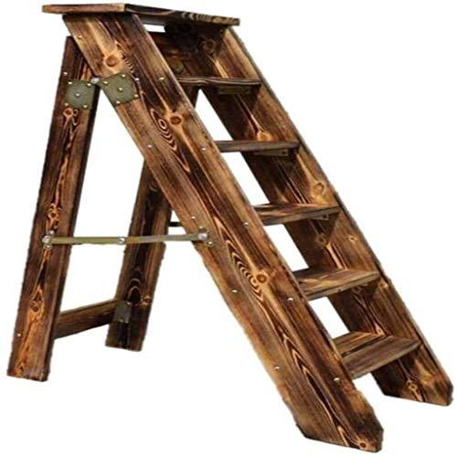 Ygcbl Retro Plegable Suge Escalera Taburete de Madera Escale