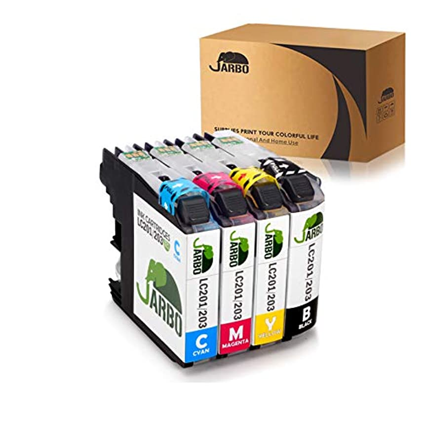 JARBO 1 Set Compatible Ink Cartridges Replacement for Brother LC203 High Yield, Used with Brother MFC J480DW J680DW J880DW J460DW J485DW J885DW J5520DW J4320DW J4420DW J4620DW J5620 J5720DW Printer