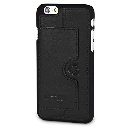 DETUMA - Funda de Piel para iPhone 6S/6 con Tarjetero, Compatible con Apple iPhone 6S / iPhone 6 (Fabricado en Piel.), Color Negro