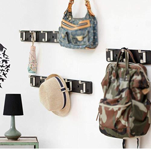 FF Drogen hangers Zwarte kapstok Coat rack Coat rack Ophanghaak aan de muur achter de deur Studio Woonkamer Coat rack