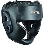 HUNTER Essential Professional Boxing MMA Kickboxing Head Gear (Black, L/XL)