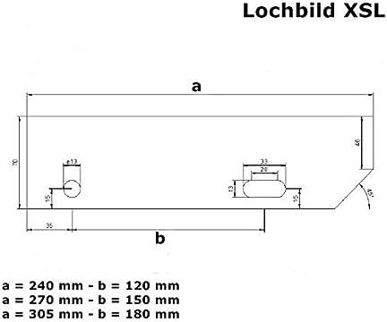Fenau XSL Escal/ón de acero seg/ún norma DIN galvanizado en caliente R12 MW: 30 mm // 30 mm Escal/ón de rejilla Dimensiones: 1000 x 270 mm Antideslizante