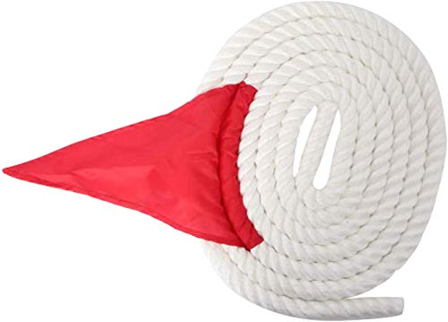 55 Feet Tug of War Rope with Flag, Soft Polypropylene Rope Games for Team Building Activities, Family Reunion