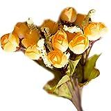 Xinjieda Decoración de la Boda 1 Rama brotes de Rose Flores Artificiales Floral de la Fiesta Inicio Falso Flor de la Planta simulación de la sede