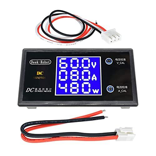 ZRYYD DC 0-100V 10A 1000W LCD Digital-Voltmeter-Amperemeter-Wattmeter-Spannung Strom Leistungsmesser Volt-Detektor-Tester-Monitor 12V 24V 36V