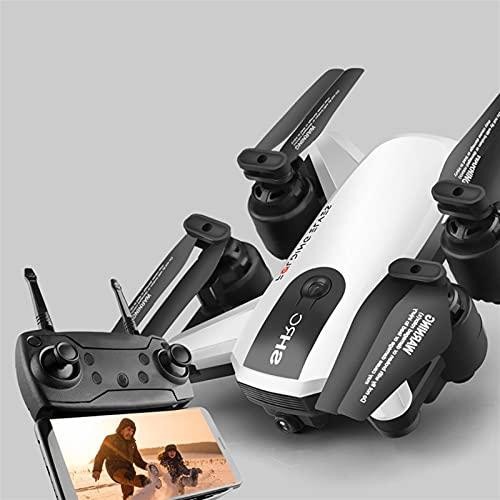 Mini drone selfie pieghevole con doppia fotocamera da 1k HD Wi-Fi Camera Feed video dal vivo 2.4 GHz 6 Axis Gyro Quadcopter Toddlers Adulti Best Gifts Età 3+ per i giochi di Natale all'aperto