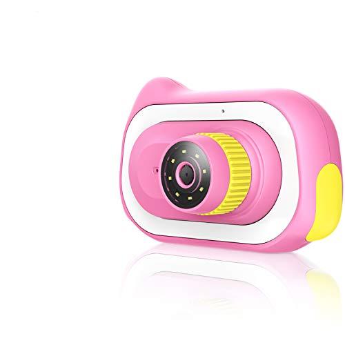 Pancellent Kinder Kamera für Kleinkind, 15,0MP Mikroskop 0 ~ 200X Ausbildungsspielzeug Natur Entdecker Kamera Spielzeug mit 16G Speicherkarte 12 Dias, Pink