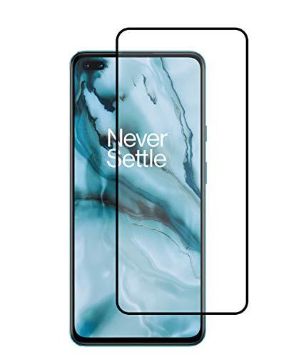FanTing för OnePlus Nord skärmskydd, [9H hårdhet, full täckning, inga bubblor och fingeravtryck], repbeständig härdat glasfilm för OnePlus Nord-, OnePlus Nord, Svart 2