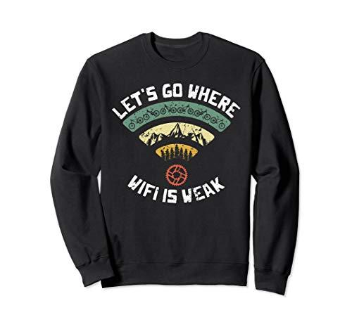 MTB Mountainbike WiFi Lustig Kettenblatt Vintage Retro Sweatshirt