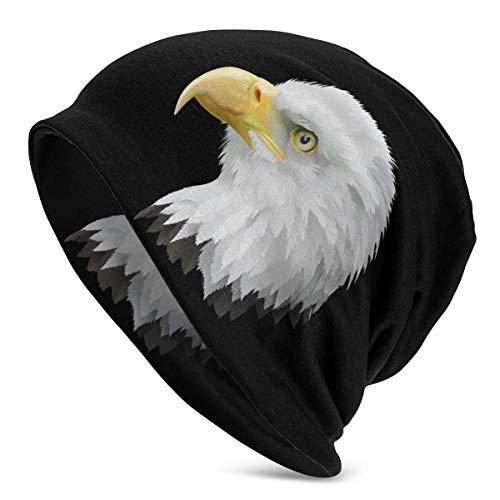 Gorro para Hombre American_Eagle_Head_Transparent_PNG_Clip_Art_Image Gorro de Punto Sombreros Suaves y cálidos Negro