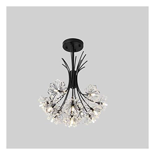 Yxx max -Araña de Luces Araña, Simple Moderna luz lámpara cristalina Dormitorio Ambiente Personalidad Creativa Diente de león Restaurante de la lámpara Lámpara de decoración del hogar (Color : A)
