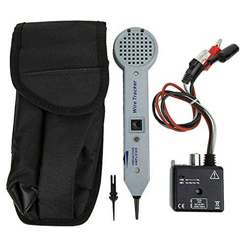 Tone Generator Kit, Wire Tracer, Cable Tester, Wire Tracker Circuit Tester 200EP High Accuracy Cable Tester Detector Finder Toner Inductive Amplifier and Probe Kit with Adjustable Volume