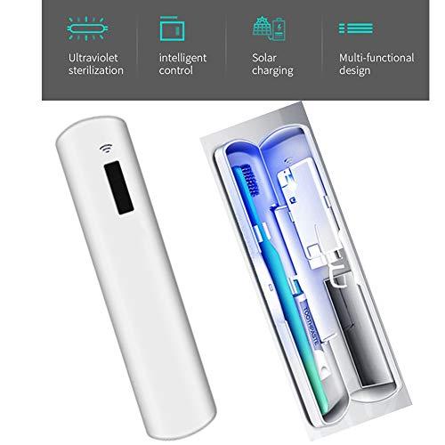 ZJJGRASS UvC-LED draagbare uv-desinfectie sterilisator tandenborstel Box Solar Energy Lade tandenborstelhoes tandenborstelhouder reizen