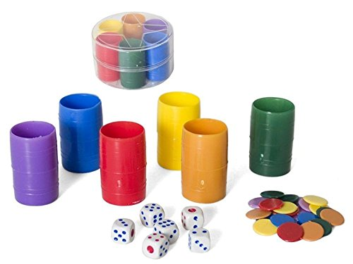 Gerimport Fichas Parchis para 6 Jugadores Plastico Diametro 8cm