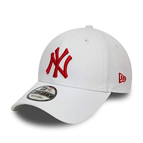 New Era New York Yankees Cap MLB Verstellbar 9forty Baseball Kappe Weiss Rot - One-Size