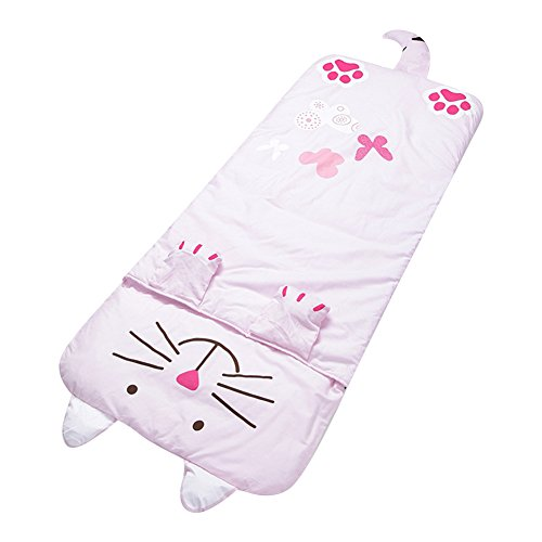 Lestore Kids Boy and Girl Big Cartoon Sleeping Bag Bunting Bags 140cm60cm (D-Pink cat)