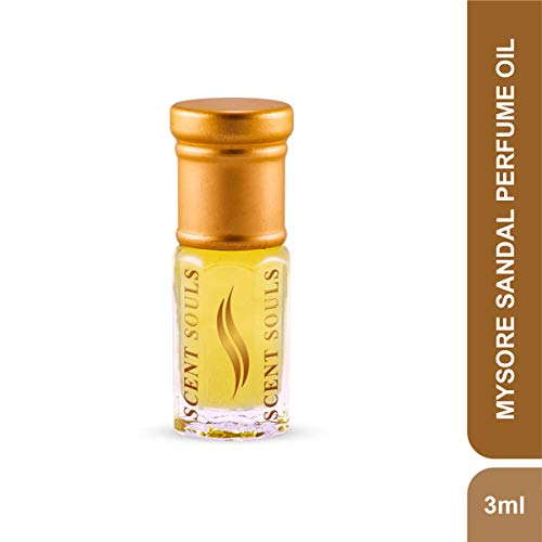 Scent Souls Mysore Sandal Long Lasting Attar Fragrance Perfume Oil For Men & Women- 3 ml