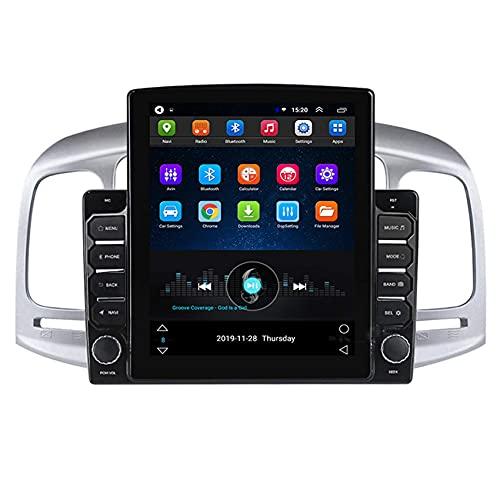 W-bgzsj Coche estéreo Android 8.1 Navegación GPS para Hyundai Accent 2006-2011 Radio de automóviles 9.7'Pantalla táctil Player Multimedia SWC Bluetooth Manos Libres con cámara de Respaldo Gratis