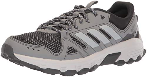 adidas Men's Rockadia Trail Running Shoe, Grey/Grey/Carbon, 11 M US