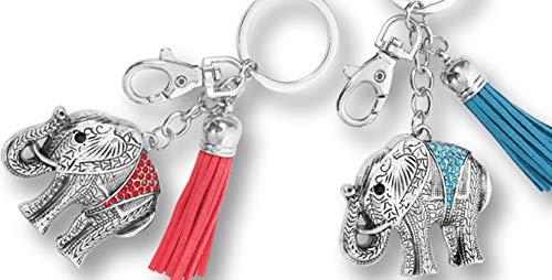Vidal Regalos Llavero Elefante x2 Colores Metal 5 cm