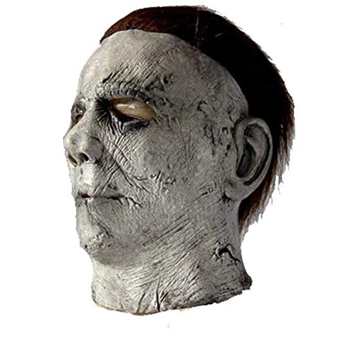 RUIMI Movie Mask Halloween Adult Scary Mask Latex Ghost Pruik
