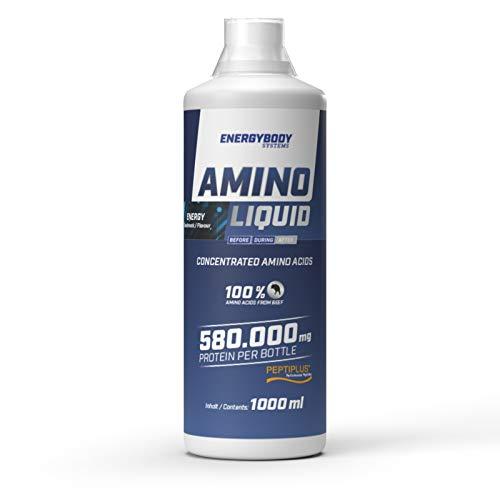Energybody Amino Liquid, Aminosäuren flüssig aus Rinderprotein, Liquid, 1000 ml, Energy Geschmack