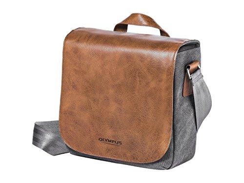 Olympus OM-D Messenger Bag Mini - Bolsa de Piel para cámara, marrón y Gris