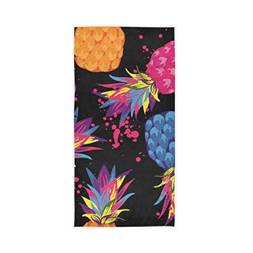RURUTONG 1 toalla de mano de piña suave de secado rápido para cocina, natación, spa, gimnasio, decoración 30 x 15 pulgadas 2010125