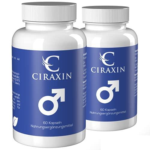 Ciraxin Das Original - Testosteron & weniger Ermüdung - 120 Vegane Kapseln (2x 60 Kapseln)