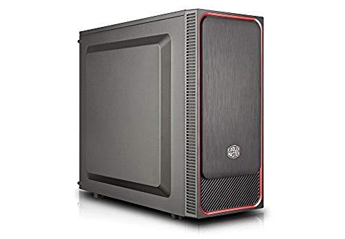 Cooler Master MasterBox E500L Red Case per PC 'ATX, microATX, Mini-ITX, Rosso, Panello Laterale Solido' MCB-E500L-KN5N-S01
