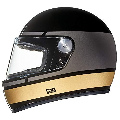 NEXX X.G100 Record Black Grey Gold Motorcycle Helmet (S)