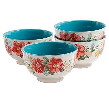 The Pioneer Woman Vintage Floral 6  Footed Bowl Set, Set of 4