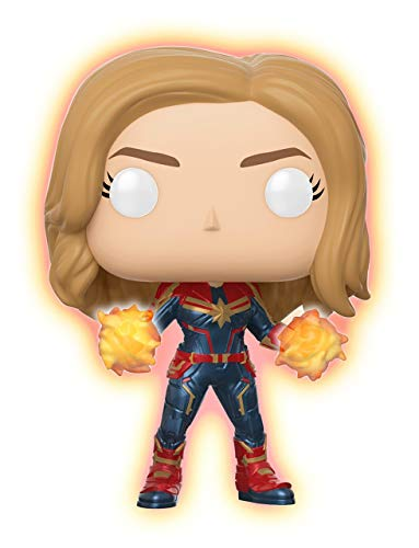 Funko Pop 432 Captain Marvel Glow In The Dark Exclusive Vinyl Bobblehead Figure