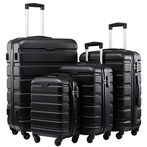 Seanshow Familly Luggage Set 4 PCS Suitcase Set TSA Lock Lightweight Luggage Sets 16-20-24-28