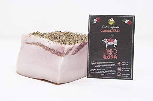 Lardo Rosa di Gombitelli (Lardo Steso)   trancio sottovuoto da 1 kg   Salume artigianale Toscano   Salumificio Artigianale Gombitelli - Toscana