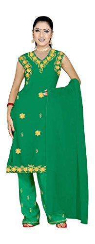 Trendofindia Salwar Kameez Set Carnaval Sari Bollywood Verde tamaño M