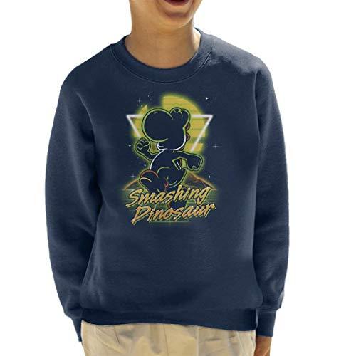 Retro Smashing Dinosaur Yoshi Super Mario Super Smash Bros Kid's Sweatshirt