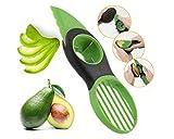 Taglia avocado ,coltello per avocado multifunzione, coltello per avocado tre in uno per coltello da frutta, verdeTaglierina per avocado