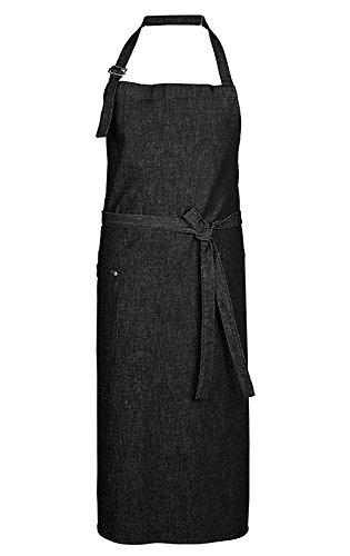 GREIFF Latzschürze   Denim   Baumwolle   One Size   Farbe: Schwarz