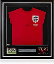 Icons.com PRE-Framed Sir Bobby Charlton Front Signed England Away Shirt: 1966 World Cup Winners Edition