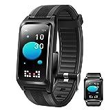 APCHY Reloj Inteligente Smartwatch,Rastreadores De Actividad De Monitoreo De Temperatura,Recordatorio De Fiebre,Pulsera Inteligente,Presión Arterial Y Monitoreo De Oxígeno En La Sangre