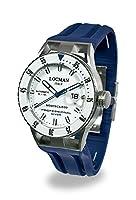 LOCMAN 腕時計 Montecristo 自動ダイバー 44mmケース 12気圧 ブルーベルト ホワイトダイヤル
