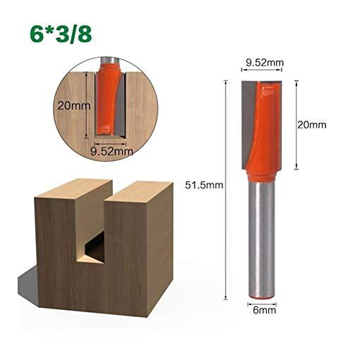 Shank Router Bit Set 1-3Pc 6mm Schaft...