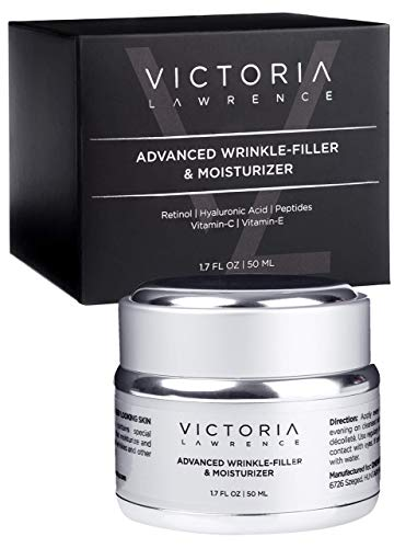 Advanced Wrinkle Filler &Moisturizer for Face - Retinol Cream Face Moisturizer &Anti Wrinkle Cream for Women - Anti Aging Face Cream for Women - Retinol, Hyaluronic Acid, Vitamin-C, Peptides