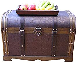 Styled Shopping Large Antique Victorian Wood Trunk Wooden Treasure Hope Chest